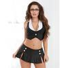 Dreamgirl Sexy Secretary Crop Top and Mini Skirt Set