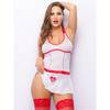 Lovehoney Fantasy Bedside Babe Backless Sheer Nurse Outfit