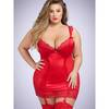 Lovehoney Plus Size Treasure Me Red Underwired Chemise Set