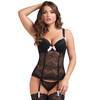 Lovehoney Black Lace Push-Up Basque Set