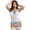 Lovehoney White Lace Push-Up Basque Set