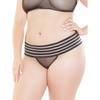 Coquette Plus Size Striped Thong