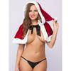Miss Santa Faux Fur Trim Cape