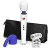 Lovehoney Deluxe White Massage Wand Couple's Gift Bundle (4 Piece)