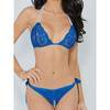 Escante Crotchless Lace Pearl Thong Set