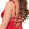Lovehoney Love Me Red Lace Soft Cup Babydoll Set