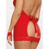 Dreamgirl Open Back Chemise and Cuffs Set