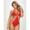 Dreamgirl Crotchless Heart Lace Strappy Body