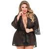 Lovehoney Plus Size Barely There Sheer Black Robe