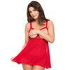Lovehoney Love Me Red Lace Open Cup Babydoll Set
