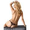 Roza Lea Diamante and Lace Rose Thong