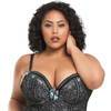 Lovehoney Plus Size Seduce Me Grey Push-Up Basque Set