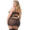 Lovehoney Plus Size Parisienne Black Lace Plunge Chemise