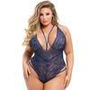 Lovehoney Plus Size Late Night Liaison Blue Crotchless Lace Body