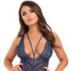 Lovehoney Late Night Liaison Blue Lace Deep Plunge Bustier Set