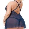 Conjunto de Babydoll Azul Late Night Liaison Talla Grande Lovehoney