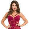 Lovehoney Parisienne Wine Lace Plunge Chemise