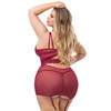 Lovehoney Plus Size Parisienne Wine Lace Plunge Chemise