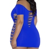 iCollection Off The Shoulder Plus Size Cut-Out Mini Dress