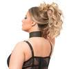 Lovehoney Plus Size Rendezvous Black Studded Fishnet Basque Set