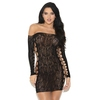 iCollection Off The Shoulder Lace Mini Dress