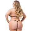 Lovehoney Plus Size Lace Peek-a-Boo Bra and Crotchless G-String Set