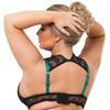 Lovehoney Plus Size Moonlight Green Peekaboo Bra and Knickers Set