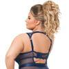 Lovehoney Plus Size Moonlight Blue Crotchless Plunge Teddy