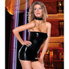 Darque Wet Look Tube Dress
