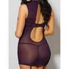 Dreamgirl Purple Stretch Lace Cut-Out Chemise