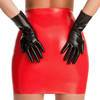Rubber Girl Black Latex Gloves