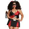 Dreamgirl Plus Size Red and Black Sexy Harlequin Costume