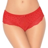 Seven 'til Midnight Red Heart Mesh Strappy Back Shorts