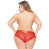 Seven 'til Midnight Plus Size Red Heart Mesh Strappy Back Shorts