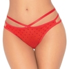 Seven 'til Midnight Red Heart Mesh Thong