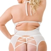 Lovehoney Plus Size Pure Romance Ivory Lace Underwired Basque Set