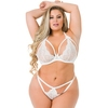 Lovehoney Plus Size Pure Romance Ivory Underwired Triangle Bra Set