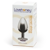 Lovehoney Jewelled Heart Metal Large Butt Plug 3.5 Inch
