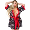 Lovehoney Plus Size Black Floral Sheer Robe