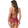 Lovehoney Twilight Temptation Wine Halterneck Basque Set
