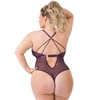 Lovehoney Plus Size Moonflower Plum Lace Strappy Body