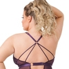 Lovehoney Plus Size Moonflower Plum Lace Strappy Teddy