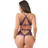 Lovehoney Moonflower Purple Lace Strappy Bra Set
