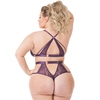 Lovehoney Plus Size Moonflower Purple Lace Strappy Bra Set
