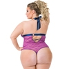 Lovehoney Plus Size Free Spirit Pink Lace Strappy Teddy