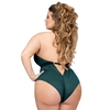 Lovehoney Plus Size Barely There Sheer Green Crotchless Body