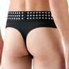 LHM Black Studded Thong