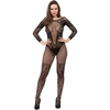 Lovehoney Black Lace Long Sleeve Fishnet Bodystocking