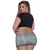 Exposed Plus Size Tie Front Top and Skirt Secretary Costume