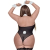 Costume de lapine sexy complet transparent grande taille, Exposed